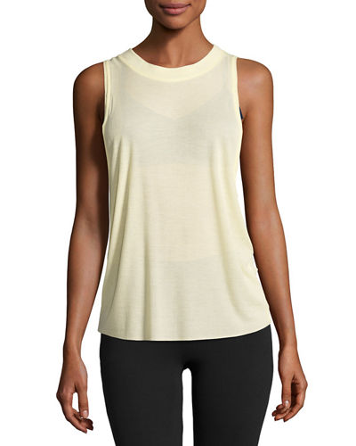 Heat Wave Sleeveless Ribbed Sport Tank