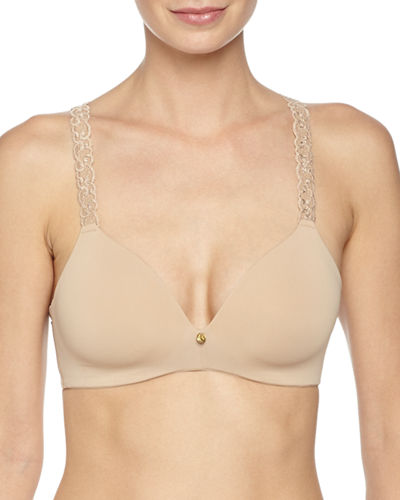 Natori Pure Luxe Contour Soft-Cup Wireless Bra