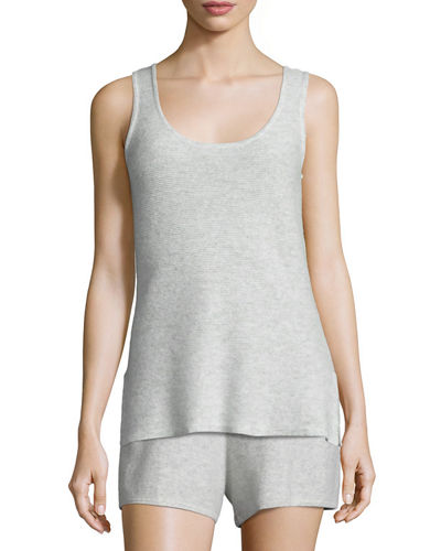 Basic Textured Cashmere Tank