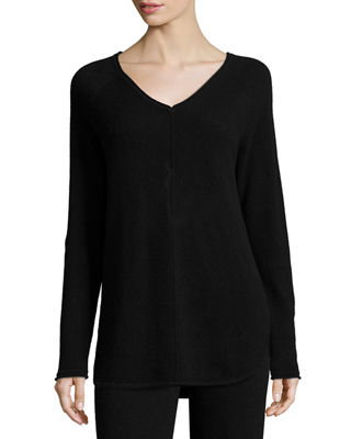 Cashmere V-Neck Lounge Top