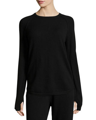 Sporty Crewneck Cashmere Top