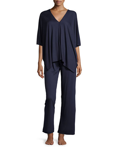 Natori Shangri La Two-Piece Tunic Pajama Set
