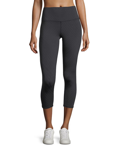 High-Waist Airbrush Capri Leggings