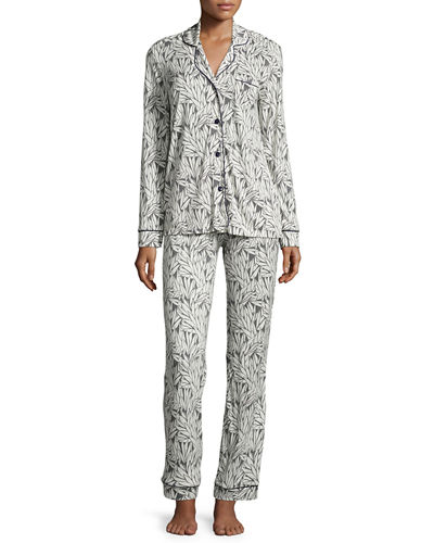 Bella Dot-Print Long-Sleeve Pajama Set