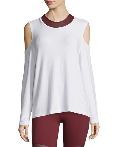 Varley Euclid Cold-Shoulder Sweatshirt