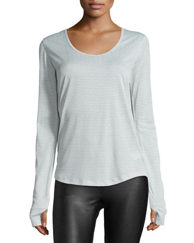 Wave Long-Sleeve Sport Top