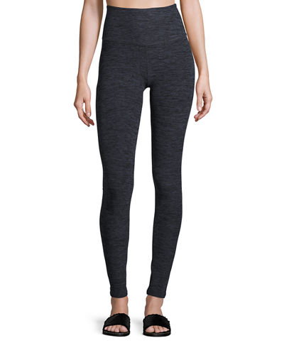 High-Waist Space-Dye Leggings