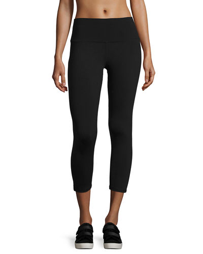 Alo Yoga High-Waist Airbrush Capri Leggings, Black