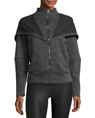 Chill Hooded Sport Jacket, Jungle Heather