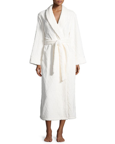 Embossed Plush Wrap Robe