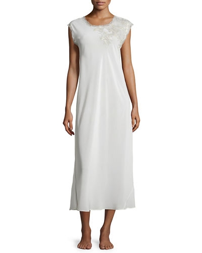 Muse Long Gown with Lace-Detail
