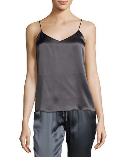 Silk Satin V-Neck Camisole Top