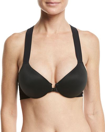 Bra-llelujah! Front-Close Racerback Full-Coverage Underwire Bra