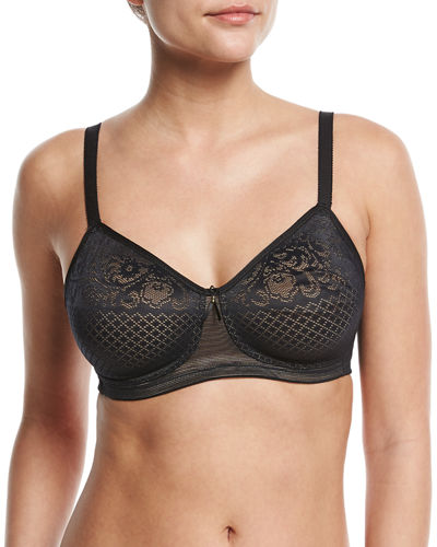 Visual Effects Soft Cup Lace Minimizer Bra