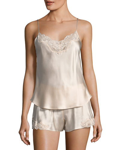 Bijoux Short Silk Pajama Set