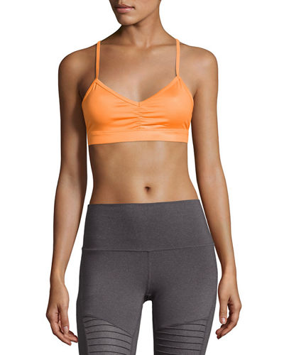 Alo Yoga Glow Strappy Low-Impact Sports Bra