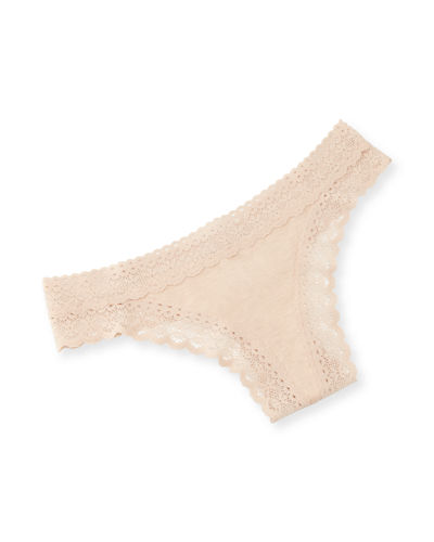 May Lace-Trim Thong