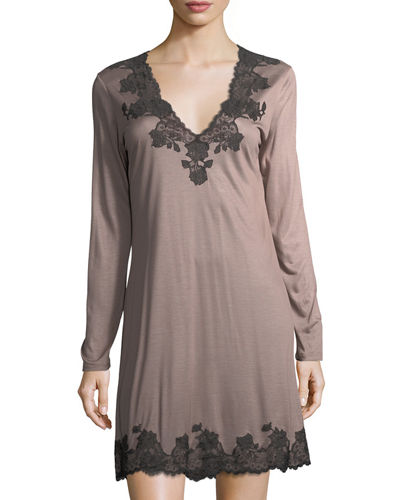 Charlize Lace-Trim Sleep Shirt