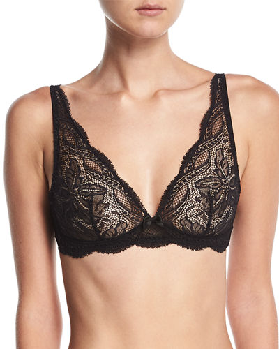 Eden Floral-Lace Triangle Wire-Free Soft Bra