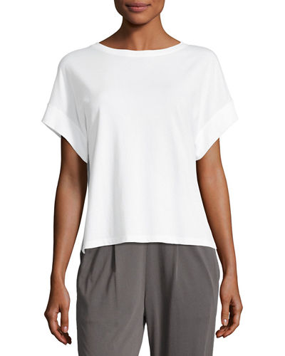 Boxy Pima Cotton Lounge Tee