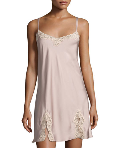 Feathers Lace-Trim Chemise
