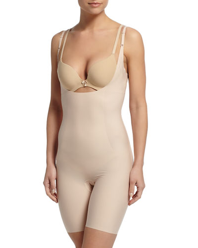 Thinstincts Targeted Open-Bust Bodysuit Shaper