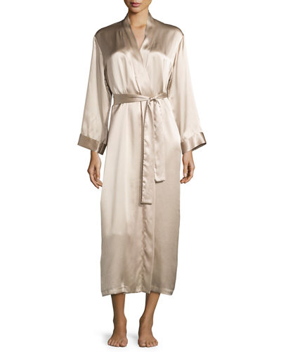 Gabriella Silk Long Robe