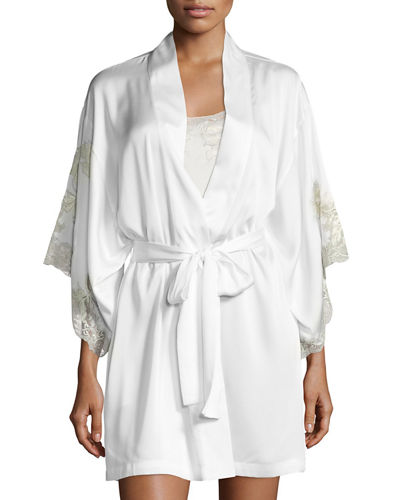 Chantilly Lace-Trimmed Robe