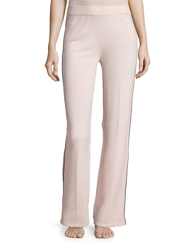 Cashmere Tipped Contrast-Trim Lounge Pants