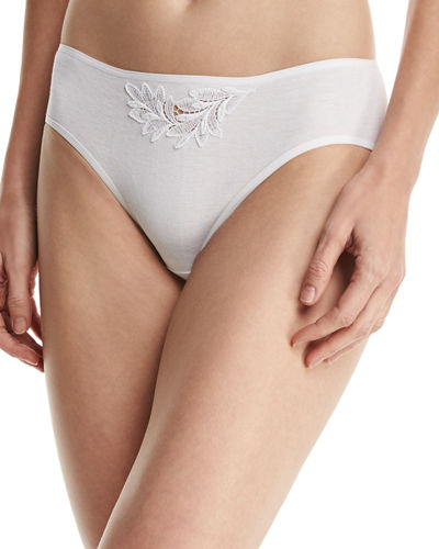 Hanro Frida High-Cut Bikini Briefs