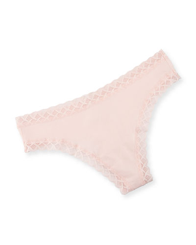 Bliss Lace-Trim Cheeky Thong