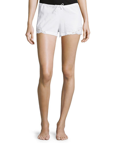 Souple Lace-Trim Drawstring Shorts
