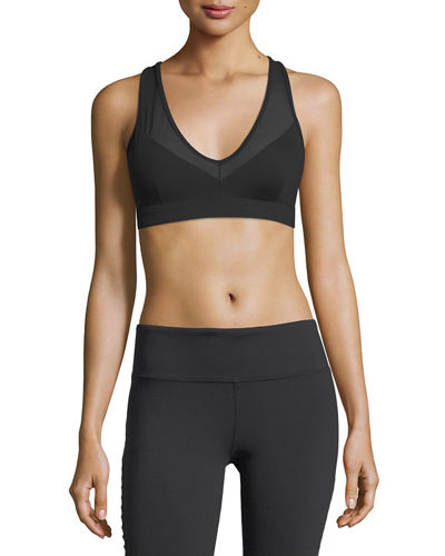 Alo Yoga Peak Slashed Low-Impact Sports Bra
