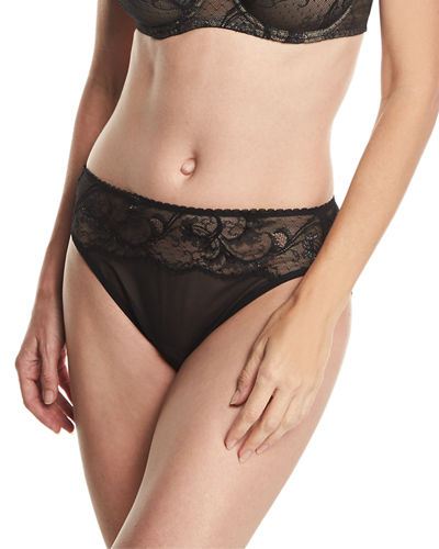 Distinguished Elegance High-Cut Lace Briefs