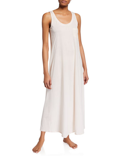 Long Cotton Tank Nightgown