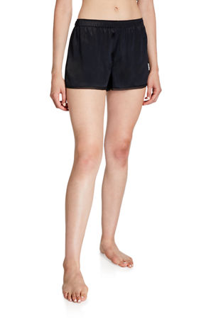 Neiman Marcus Silk Lounge Shorts