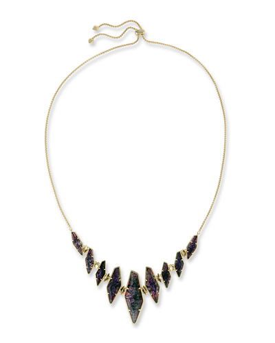 Kendra Scott Bernice Crackle Glass Station Necklace