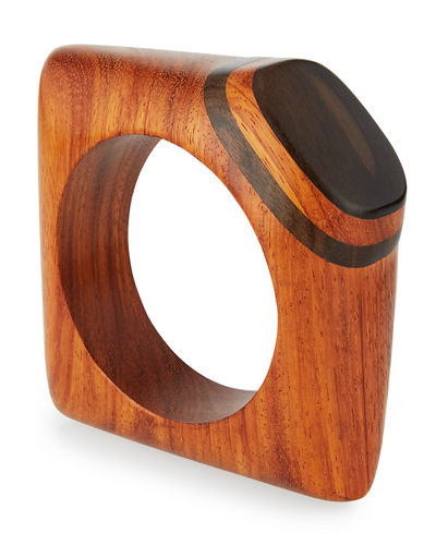Wooden Knuckle Bangle Bracelet