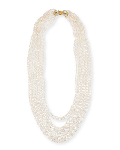 Multi-Strand Simulated Pearl Necklace