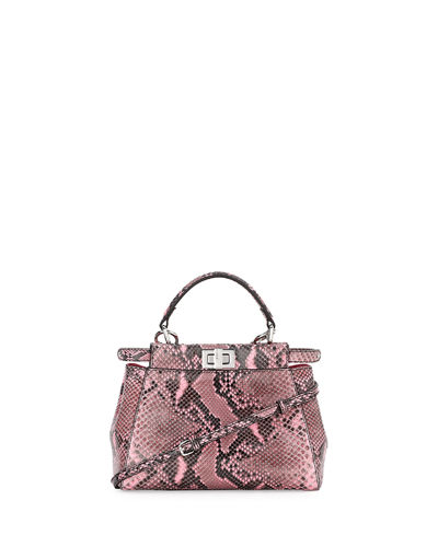 Peekaboo Mini Python Satchel Bag