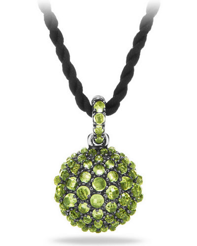 20mm Osetra Faceted Pendant Necklace, 42