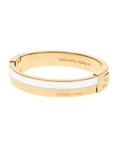 Logo Hinge Bangle Bracelet
