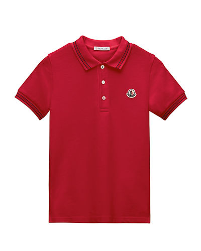 Tipped Jersey Polo Shirt, Size 8-14