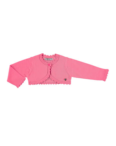 Scalloped Cotton-Blend Bolero, Size 3-36 Months