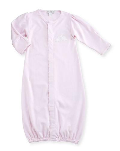Kissy Kissy Pique Cottontails Convertible Sleep Gown, Size