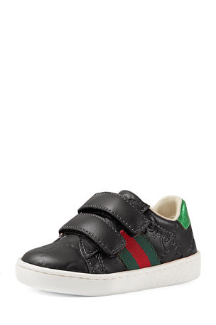 Gucci GG Supreme Leather Sneaker, Toddler