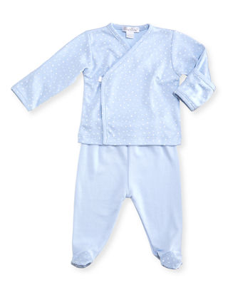 Kissy Kissy Starry Night Printed Footed Pajama Set, Size Newborn - 6 Months