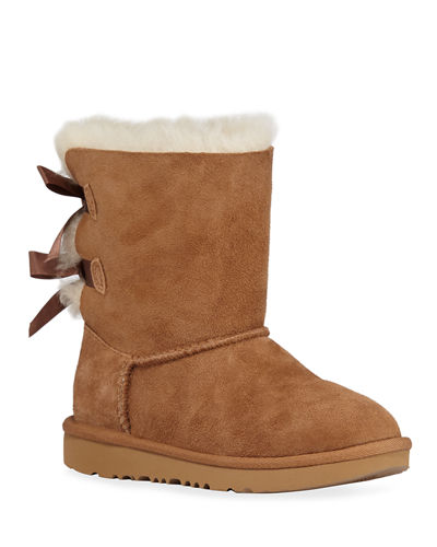 Bailey Bow II Sheepskin Boot, 13T-6Y