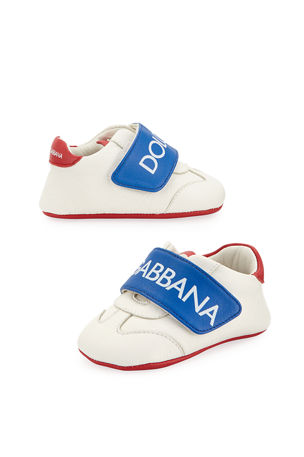 Dolce & Gabbana Classic Logo Leather Sneakers, Baby/Toddler