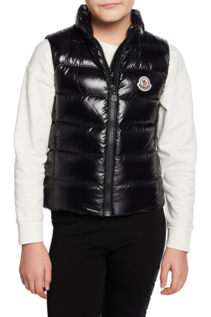 Moncler Ghany Laque Quilted Puffer Vest, Size 4-6